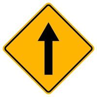 Go Straight Traffic Sign On White Background vector