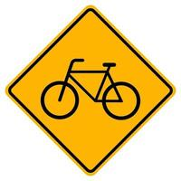 Warning Bicycles Only traffic Road Symbol Sign Isolate on White Background,Vector Illustration EPS.10 vector