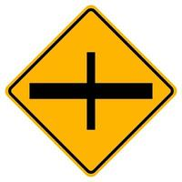 4-Junction Crossroads Junction Traffic Road Symbol Sign Isolate on White Background,Vector Illustration EPS.10 vector
