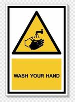 Wash Your Hand Symbol Sign,Vector Illustration, Isolated On White Background Label. EPS10 vector