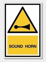Sound Horn Symbol Sign Isolate On White Background,Vector Illustration EPS.10 vector