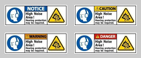 High Noise Area Hearing Protection May Be Required vector