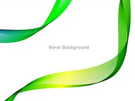 Stylish smooth beautiful green flowing wave pattern background vector