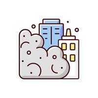 icono de color rgb de tormenta de arena vector