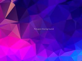 Decorative geometric triangle polygon abstract background vector