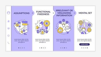 Problem solving obstacles onboarding vector template