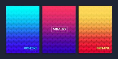 Abstract Minimal Geometric Gradient Cover Background vector