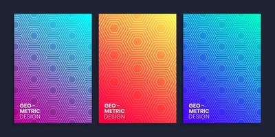 Minimal Gradient Cover Design With Geometric Polygon vector