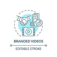 icono de concepto de videos de marca vector