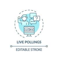 Live pollings concept icon