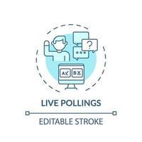 icono de concepto de encuestas en vivo vector