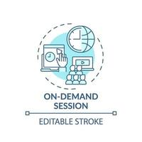 On-demand session concept icon vector