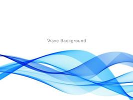 Blue wave style abstract modern background vector