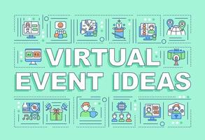 Virtual event ideas word concepts banner vector