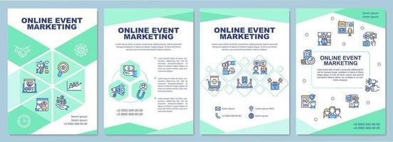 Plantilla de folleto de marketing de eventos en línea vector