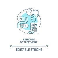 Response to treatment concept icon vector