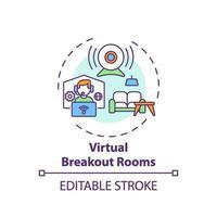 icono de concepto de salas de descanso virtual vector