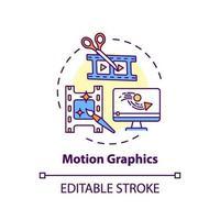 icono de concepto de gráficos en movimiento vector