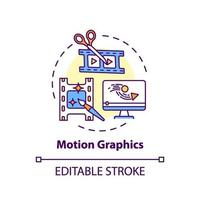 Motion graphics concept icon vector