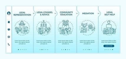plantilla de vector de incorporación de categorías de servicios legales