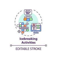 Icebreaking activities concept icon vector