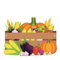 Thanksgiving day harvest design vector