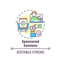 Sponsored sessions concept icon vector