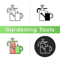 Watering can and hand sprayer icon vector