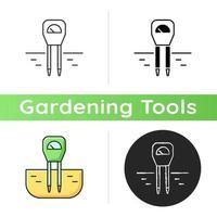 Soil moisture monitoring icon vector