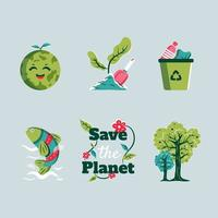 Save The Planet Save The Earth Icon vector