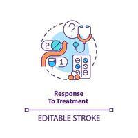 respuesta al icono del concepto de tratamiento vector