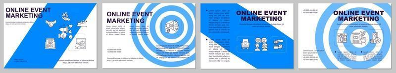 Online event marketing brochure template vector