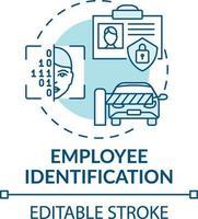 icono del concepto de identificación del empleado vector