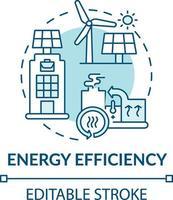 icono del concepto de eficiencia energética vector