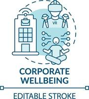 icono del concepto de bienestar corporativo vector