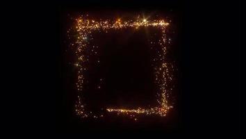spirales de forme étincelante orange et or en forme carrée