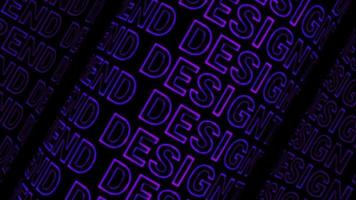 Purple DESIGN TREND text background lined up, flowing back and forth
