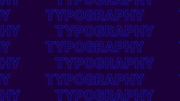 patrón de superficie de texto de tipografía de color intermitente video