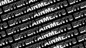 Fondo de textura de texto de entretenimiento blanco video