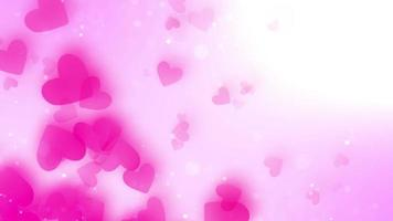 Floating Hearts in A Pink Background