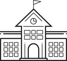 Line icon for university vector