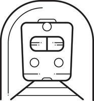 icono de línea de metro vector