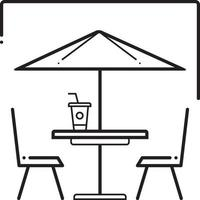 Line icon for outdoor cafe vector