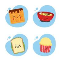 Set of 4 Kawaii Food