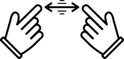 icono de línea para gestos vector