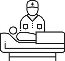 icono de línea de apoyo médico vector