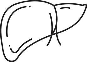 icono de línea para hepatología vector