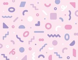 lindas figuras rosas están esparcidas alrededor. plantilla de diseño de patrón simple. vector
