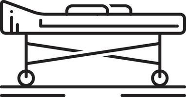 icono de línea para camilla vector