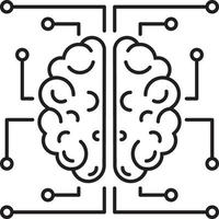 Line icon for neurology vector